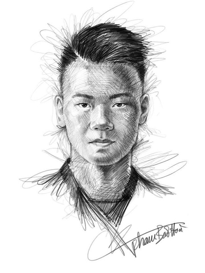 Trọn bộ tranh ký họa dàn cầu thủ cực phẩm U23 Việt Nam - Ảnh 17.