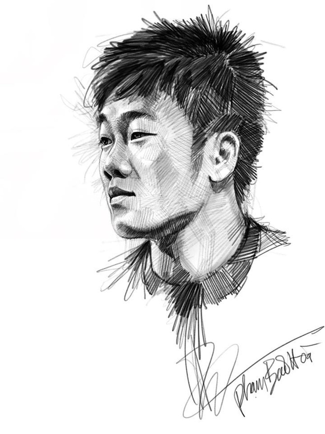 Trọn bộ tranh ký họa dàn cầu thủ cực phẩm U23 Việt Nam - Ảnh 3.