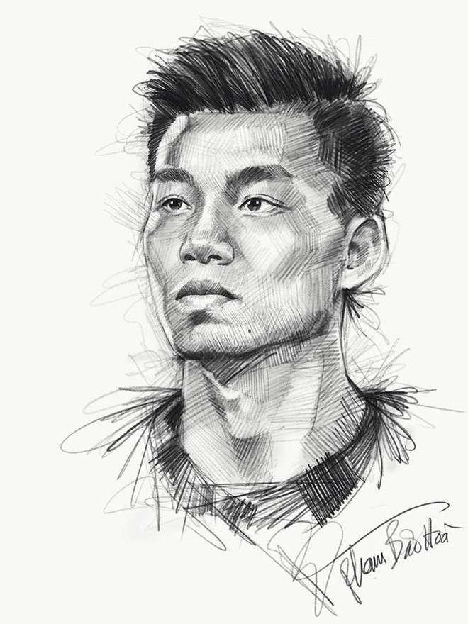 Trọn bộ tranh ký họa dàn cầu thủ cực phẩm U23 Việt Nam - Ảnh 7.