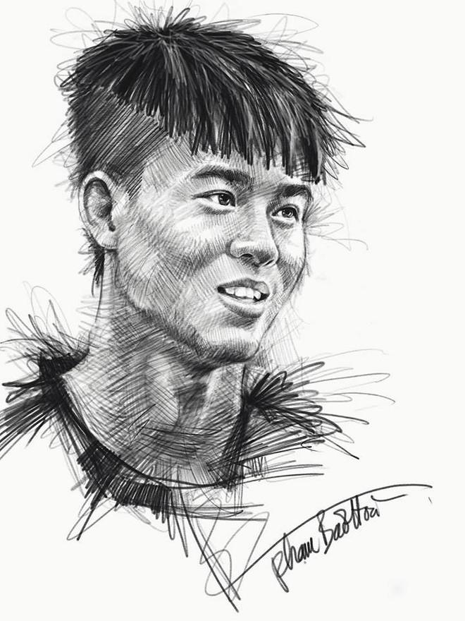 Trọn bộ tranh ký họa dàn cầu thủ cực phẩm U23 Việt Nam - Ảnh 9.