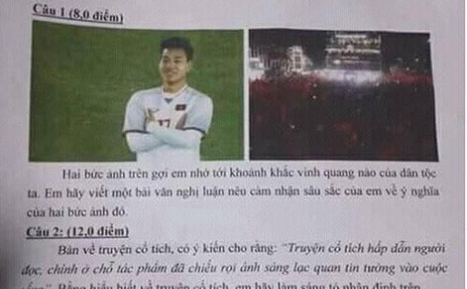 Ý chí, nghị lực của thầy trò ông Park Hang seo liên tiếp vào đề thi Văn