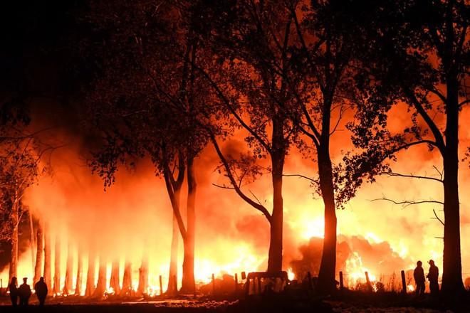 24h qua ảnh: Cầu lửa kỳ lạ xuất hiện sau vụ nổ kho đạn Ukraine ở sát biên giới Nga 8