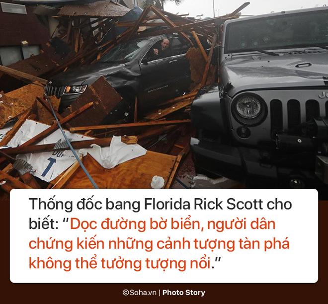 Sức mạnh kinh hoàng của bão Michael và những cảnh không tưởng tượng nổi trên đất liền Mỹ - Ảnh 5.
