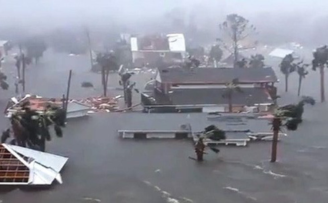 Bão Michael gây nhiều thiệt hại sau khi đổ bộ vào đất liền tại Mỹ