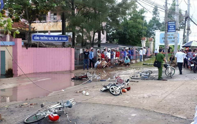 Hiện trường thương tâm vụ 6 học sinh bị điện giật, 2 em tử vong ở Long An 2