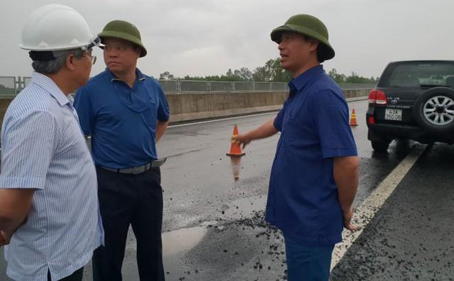 Thứ trưởng Bộ GTVT công bố tên 2 nhà thầu thi công đoạn cao tốc 34 nghìn tỉ hư hỏng 1
