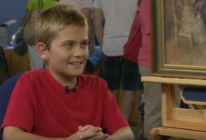 Mua bức tranh chỉ 2 USD, vài tháng sau cậu bé nhận được một bất ngờ nằm ngoài tưởng tượng - Ảnh 1.