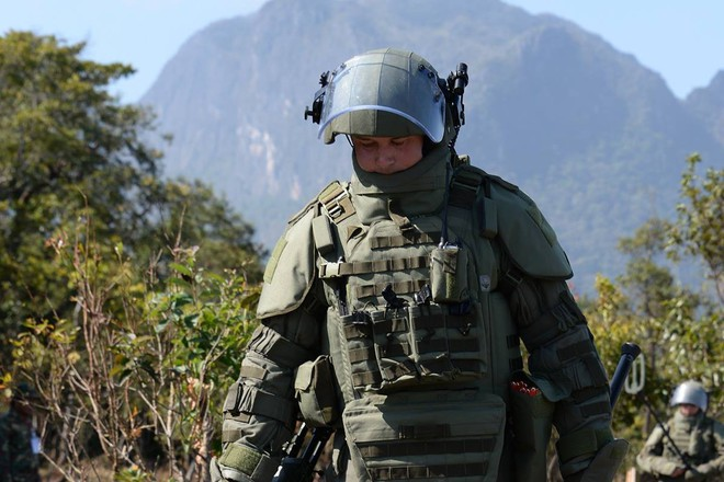 Trang bị hiện đại của lính công binh Nga đang hoạt động tại Lào - Ảnh 8.
