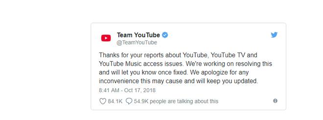 NÓNG: Youtube bị sập trên toàn cầu, đội ngũ Youtube nói gì? - Ảnh 2.