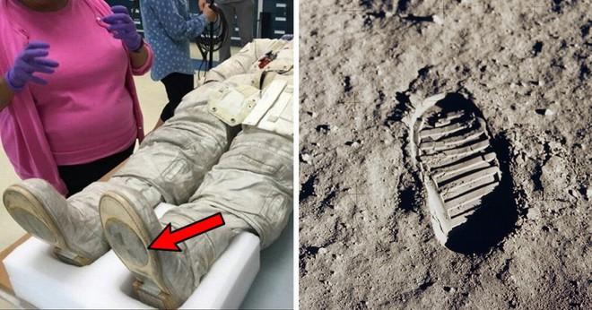 Sự thật dấu chân và nghi vấn Neil Armstrong không thực sự đặt chân lên Mặt trăng - Ảnh 1.