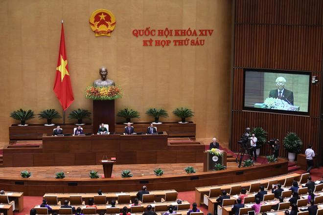 Tổng bí thư Nguyễn Phú Trọng đắc cử Chủ tịch nước với tỷ lệ phiếu 99,79% - Ảnh 5.