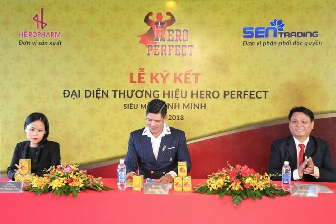 Siêu mẫu Bình Minh làm đại sứ thương hiệu Thực phẩm bảo vệ sức khỏe Hero Perfect - Ảnh 1.