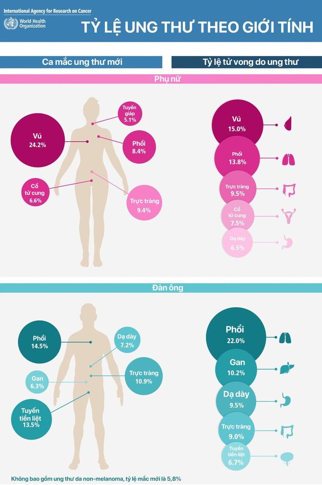 GLOBOCAN công bố 5 loại bệnh ung thư có nhiều người mắc và tử vong nhất hiện nay - Ảnh 3.