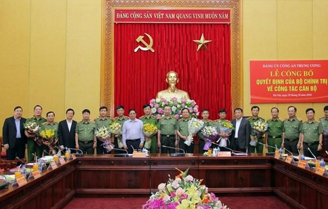 Đảng ủy Công an Trung ương công bố Quyết định của Bộ Chính trị về công tác cán bộ - Ảnh 1.