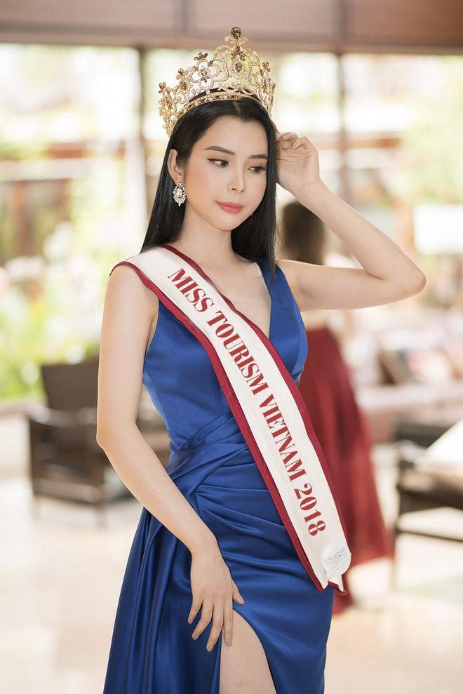 Huỳnh Vy dự thi Hoa hậu Du lịch Thế giới 2018 - ảnh 1