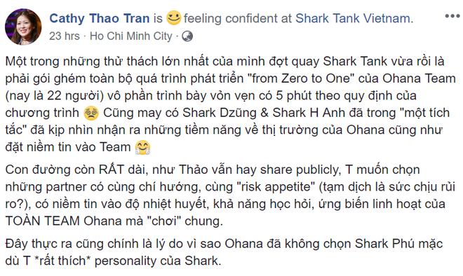 Bị nói gọi được vốn trong Shark Tank nhờ xinh đẹp, nữ CEO 9X lên Facebook chia sẻ suy nghĩ - Ảnh 4.