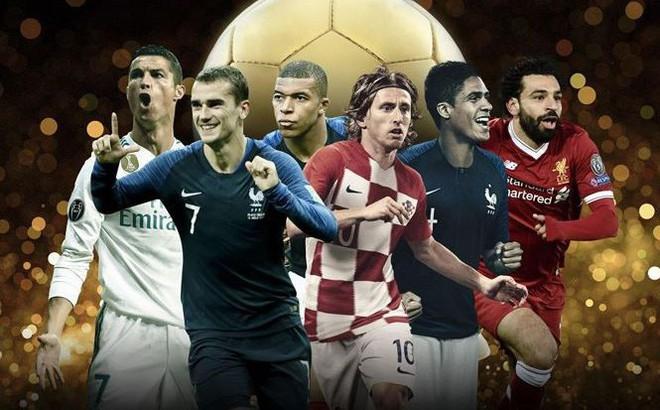 Quả bóng vàng 2018: France Football công bố 30 ứng viên