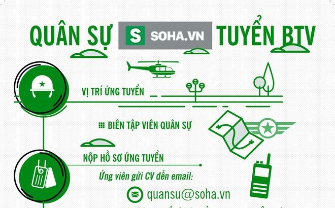 Soha.vn tuyển Biên tập viên mục Quân sự