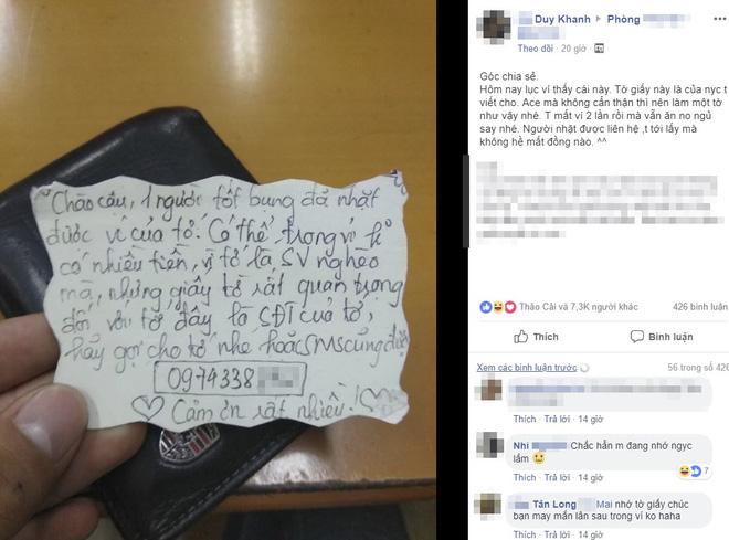 Đặt mảnh giấy người yêu cũ viết trong ví, chàng trai 2 lần lấy lại đồ 'không mất đồng nào' - ảnh 1