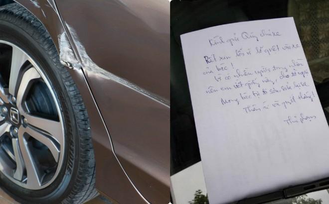 Mảnh giấy trắng trên kính ô tô khiến tài xế đọc xong không thể thốt lên lời
