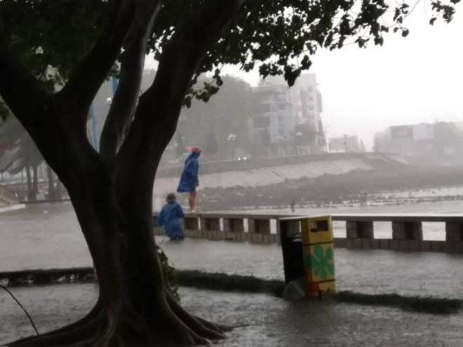 Nhiều ngư dân Vũng Tàu liều lĩnh ra biển kiểm tra tài sản giữa cơn bão số 9 quét qua - Ảnh 2.