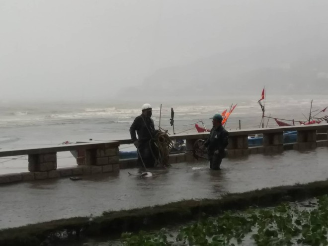 Nhiều ngư dân Vũng Tàu liều lĩnh ra biển kiểm tra tài sản giữa cơn bão số 9 quét qua - Ảnh 7.
