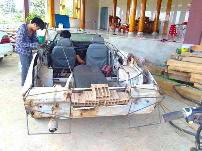Cận cảnh siêu xe mui trần Lamborghini chờ ngày rước dâu được chế từ xe đồng nát của 9X Hà Tĩnh - Ảnh 2.