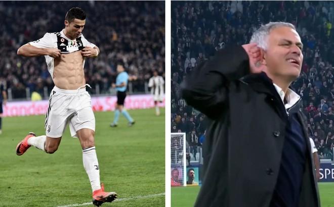 Ăn mừng bàn thắng vào lưới Man United, 30 phút sau Ronaldo phải méo mặt trước Mourinho