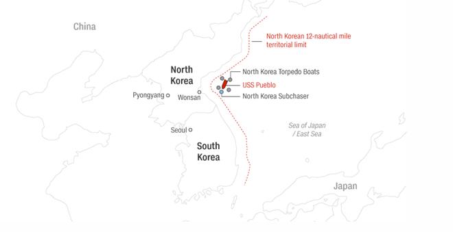 Triều Tiên bắt tận tay tàu gián điệp, Mỹ bẽ bàng nhận lỗi, suýt nổ ra chiến tranh hạt nhân - Ảnh 4.