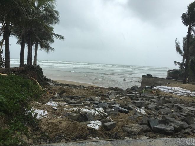 Cận cảnh bãi biển đẹp nhất hành tinh sạt lở kinh hoàng sau trận mưa lịch sử ở Đà Nẵng - Ảnh 8.
