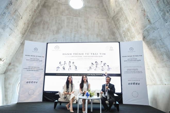 Á hậu Phương Nga, Hoàng My giao lưu với sinh viên tại Bảo tàng thế giới cà phê - Ảnh 2.