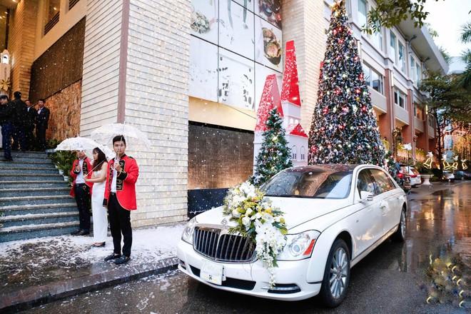 Siêu đám cưới 4,6 tỷ ở Hải Phòng: Chú rể rước bạch mã hiếm đi đón dâu, bước vào hội trường như lạc vào lâu đài cổ tích - Ảnh 1.