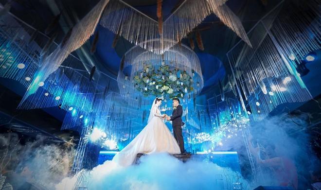 Siêu đám cưới 4,6 tỷ ở Hải Phòng: Chú rể rước bạch mã hiếm đi đón dâu, bước vào hội trường như lạc vào lâu đài cổ tích - Ảnh 9.