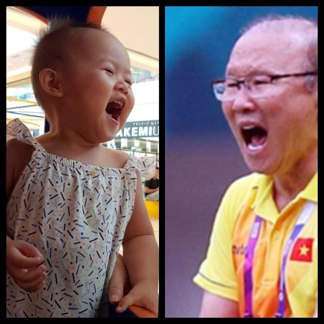 8 khoảnh khắc của cô bé 2 tuổi khiến dân mạng thích thú vì quá giống HLV Park Hang-seo - Ảnh 6.