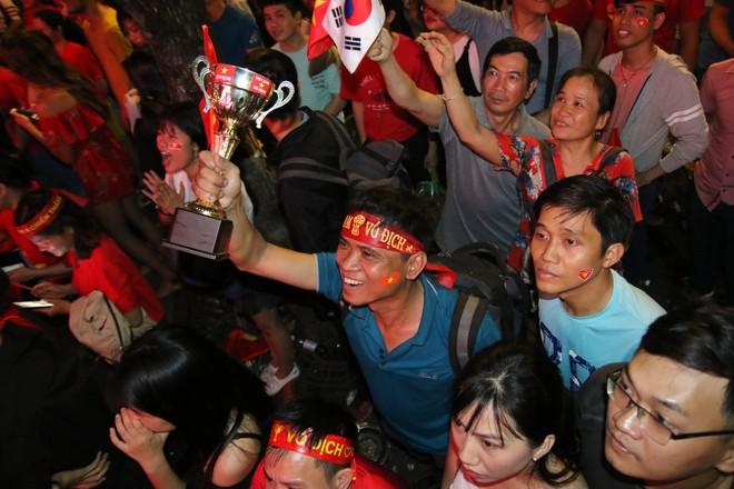 Cảm xúc vỡ òa của người hâm mộ ở Sài Gòn khi Việt Nam giành chức vô địch AFF Cup 2018 - Ảnh 14.