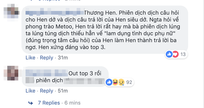 Khán giả bức xúc, tiếc nuối cho HHen Niê vì lỗi phiên dịch câu hỏi ứng xử - Ảnh 4.