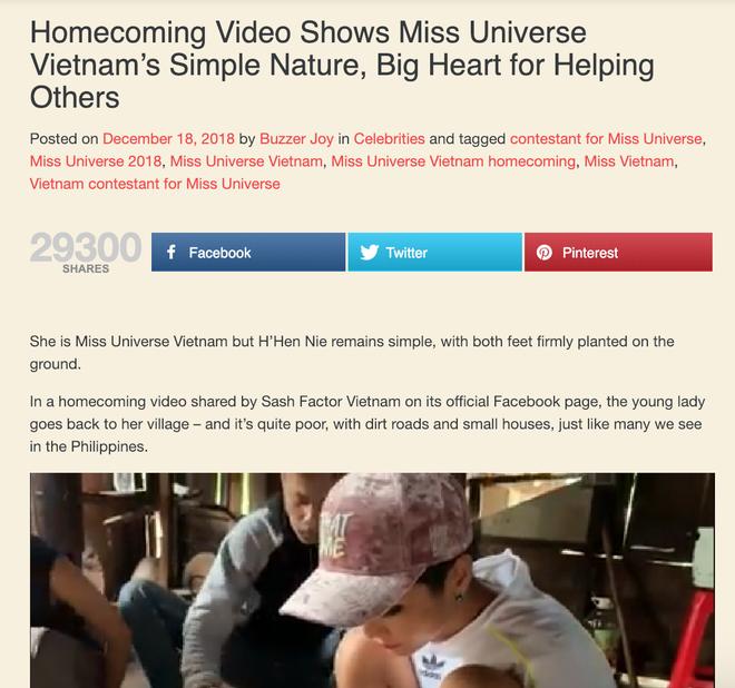 Báo chí, cộng đồng mạng quốc tế dậy sóng với hình ảnh căn nhà và cách ứng xử của HHen Niê - Ảnh 5.