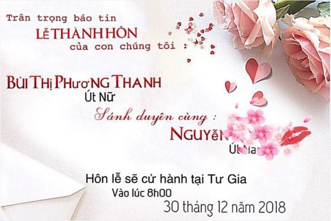Phương Thanh bất ngờ công bố thiệp cưới vào ngày 30/12 tới, quyết giữ bí mật danh tính chú rể - Ảnh 1.