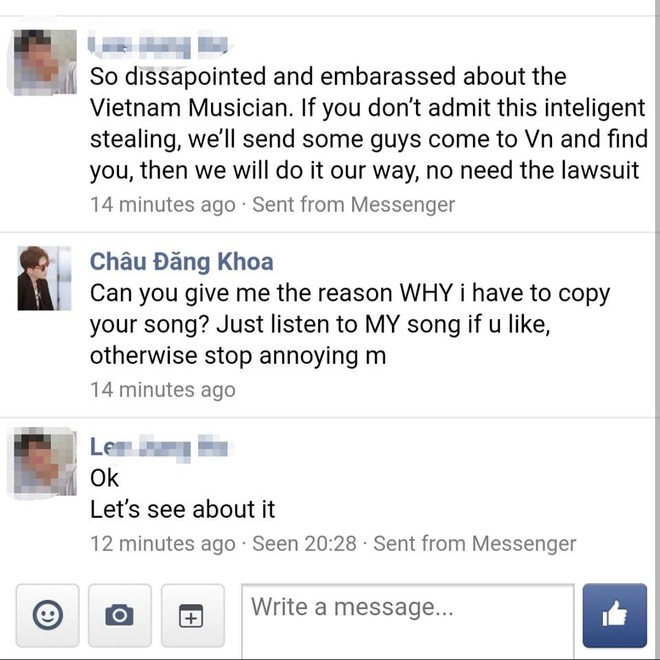 Bạn thân Hồ Ngọc Hà bị nhạc sĩ Hàn Quốc đe doạ cho người sang Việt Nam xử lý  - Ảnh 3.