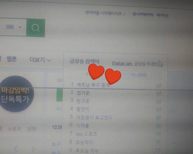 ĐT Việt Nam lọt Top 1 tìm kiếm trên cổng thông tin lớn nhất Hàn Quốc sau khi vượt qua bán kết - Ảnh 2.