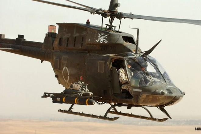 """Ảnh: Trực thăng """"Chiến binh"""" trinh sát OH-58D Kiowa của quân đội Mỹ - Ảnh 2."""