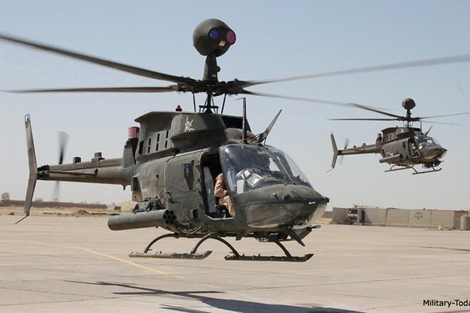 """Ảnh: Trực thăng """"Chiến binh"""" trinh sát OH-58D Kiowa của quân đội Mỹ - Ảnh 3."""