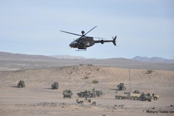 """Ảnh: Trực thăng """"Chiến binh"""" trinh sát OH-58D Kiowa của quân đội Mỹ - Ảnh 7."""
