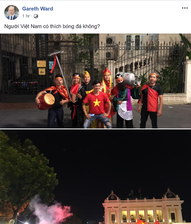 Việt Nam vào chung kết AFF Cup: Hàng triệu CĐV vỡ òa, Đại sứ Anh tại VN háo hức chung vui - Ảnh 1.