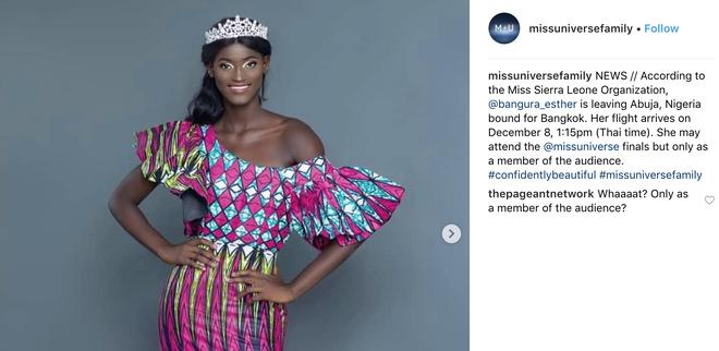 Sau tin mất tích trên đường đến dự thi Miss Universe, Hoa hậu Sierra Leone hiện đang ở đâu? - Ảnh 3.