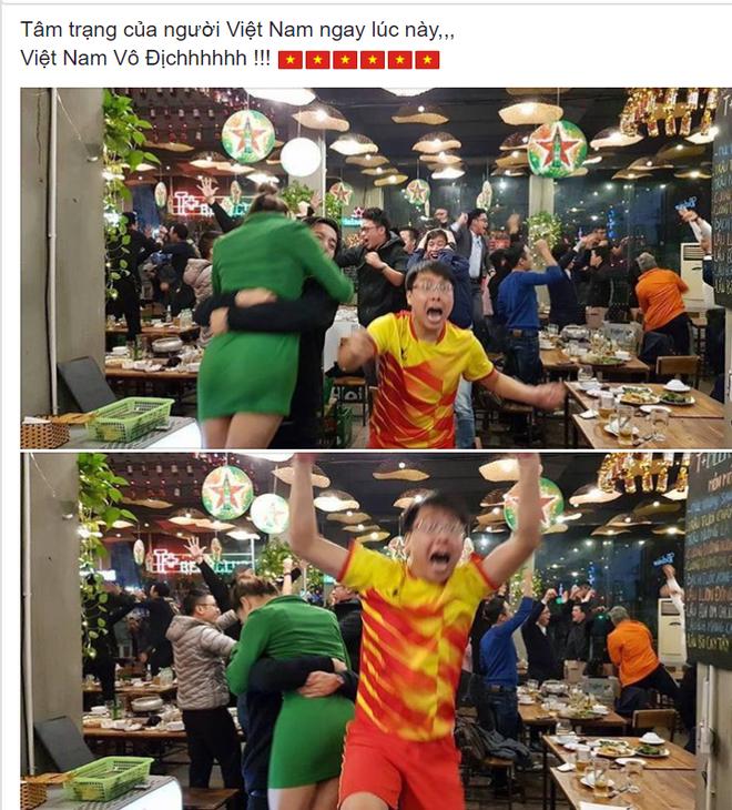 Cổ động viên Việt Nam ăn mừng dữ dội như thế nào trên Facebook? - Ảnh 1.