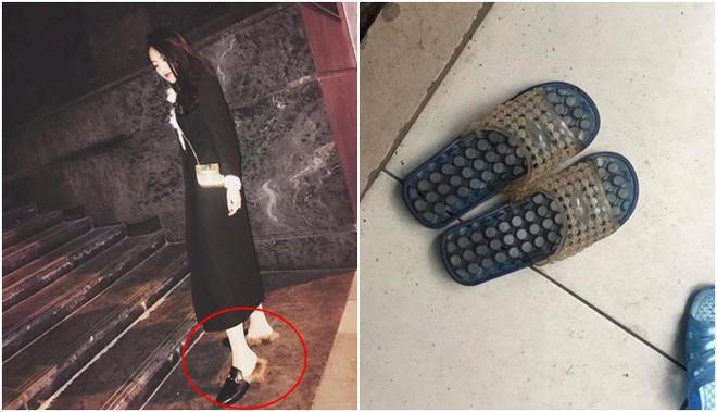 Hà Nội: Xỏ dép Gucci 24 triệu đi làm móng, ra về cô gái tá hỏa khi hàng hiệu bỗng biến thành... dép tổ ong - Ảnh 2.