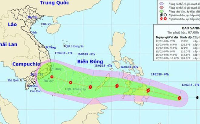 Chuyên gia khí tượng: Khả năng bão Sanba giật cấp 11 sẽ suy yếu trước khi vào Biển Đông