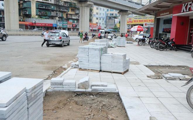 Hà Nội bất ngờ công bố kết luận chất lượng lát đá vỉa hè