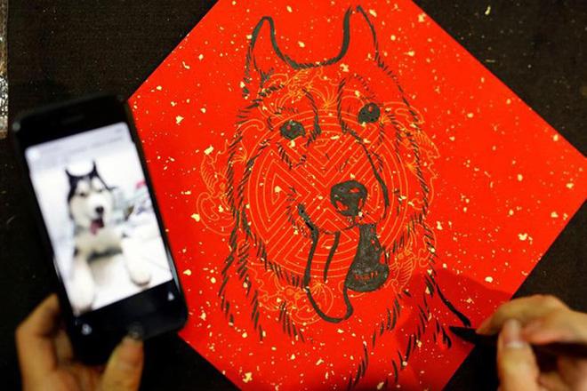 Châu Á ngập tràn sắc đỏ cùng linh vật chú chó chào Tết Nguyên Đán - ảnh 4